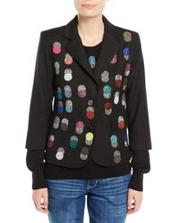 Libertine - Single-breasted Multicolour Beaded-dots Wool Blazer - Lyst