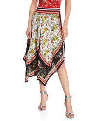 f4b1c884015 Alice + Olivia Maura Sunburst Pleated Skirt - Lyst