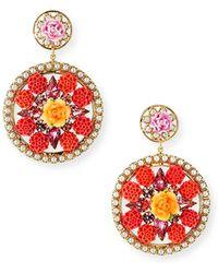 DANNIJO - Maddie Floral Statement Earrings - Lyst