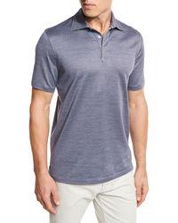 Ermenegildo Zegna - Micro-birdseye Polo Shirt - Lyst