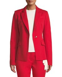 MILLY - Fitted One-button Blazer - Lyst
