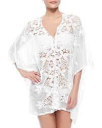 Miguelina - Kara Netted/Lace Caftan Coverup - Lyst