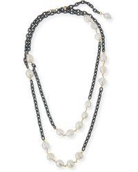 Grazia And Marica Vozza - Chain Necklace With Pearls - Lyst