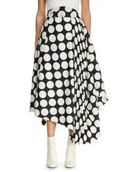 Awake - Giant Polka-dot Skirt With Pleated Detail - Lyst