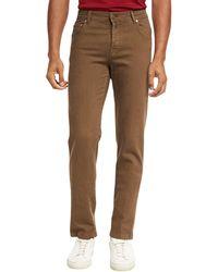 Brioni - Five-pocket Stretch-cotton Pants - Lyst