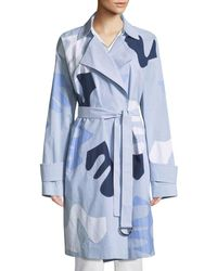 Lafayette 148 New York - Laurita Sartorial Stripe Coat With Appliqués - Lyst