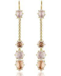Larkspur & Hawk - Caterina Chain Drop Earrings In Ballet - Lyst