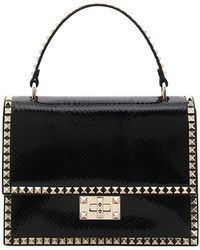 Valentino - Rockstud No Limit Snakeskin Top-handle Bag - Lyst