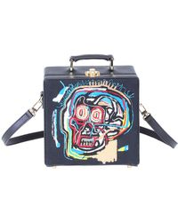 Olympia Le-Tan - Basquiat Skull Square Book Clutch Bag - Lyst