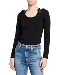 3.1 Phillip Lim - Embellished Jersey Pullover Jumper W/ Halter Ties - Lyst