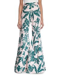 Alexis - Dasha Tropical Wide-leg Pants - Lyst