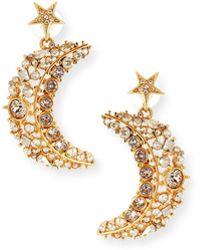 Oscar de la Renta - Celestial Swarovski Crystal Drop Earrings - Lyst
