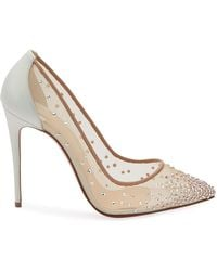 fcd4529258d9 Christian Louboutin - Follies Strass 100mm Mesh Red Sole Court Shoes - Lyst