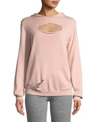 Lanston - Slashed Long-sleeve Hooded Sweatshirt - Lyst