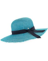 Inverni - Iris Two-tone Sun Hat W/ Hat Band & Bow - Lyst