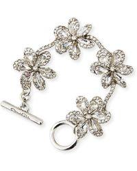 Oscar de la Renta - Crystal Delicate Flower Bracelet - Lyst