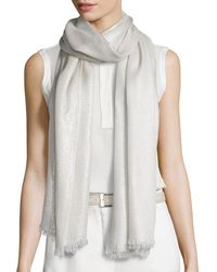 Loro Piana - Duo Soffio Cashmere-blend Evening Stole - Lyst