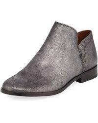 Frye - Elyssa Short Metallic Leather Booties - Lyst