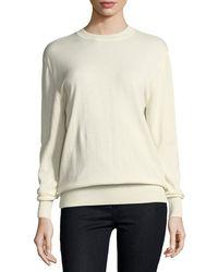 Ryan Roche - Cashmere Crewneck Sweater - Lyst