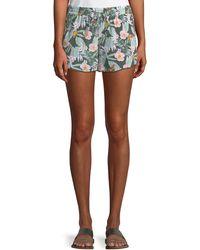 Joie - Sabia Floral Silk Drawstring Shorts - Lyst