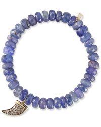 Sydney Evan - 14k Tanzanite Rondelle Bracelet W/ Horn - Lyst