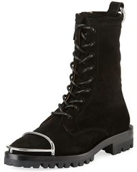 Alexander Wang - Kennah Suede Lace-up Boots - Lyst