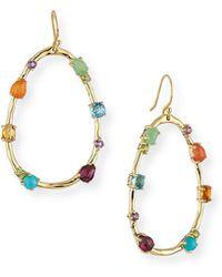 Ippolita - 18k Rock Candy Large Multi-stone Teardrop Earrings In Rainbow - Lyst