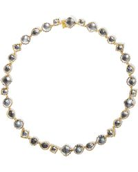 Larkspur & Hawk - Small Sadie Riviere Necklace In Gray Foil - Lyst