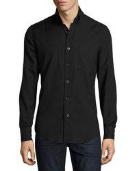 Tom Ford - Round-collar Cotton-cashmere Shirt - Lyst
