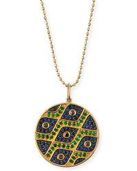 Sydney Evan - Multi-eye Black Diamond & Sapphire Medallion Necklace - Lyst