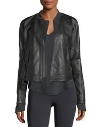 Under Armour - Misty Zip-front Leather Jacket - Lyst
