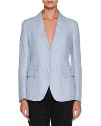 Giorgio Armani - Two-button Relaxed Linen Jacket - Lyst