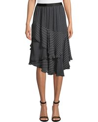 Joie - Deshay Tiered Polka-dot Skirt - Lyst