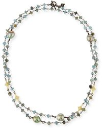 Armenta - Old World Crivelli Station Necklace With Aquamarine & Pearls - Lyst