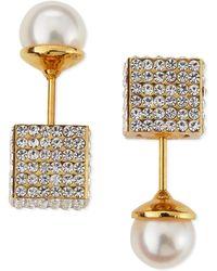 Vita Fede - Double Cubo Crystal Pearl Earrings - Lyst