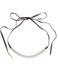 Fallon - Armure Watch Strap Leather Choker Necklace - Lyst