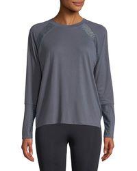 Onzie - Mesh-panel Long-sleeve Pullover Sweatshirt - Lyst