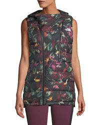 The North Face - Niche Hooded Floral Puffer Vest - Lyst