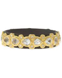 Armenta - Pear Sapphire & Diamond Band Ring - Lyst