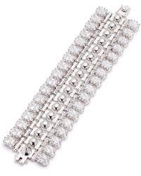 Eddie Borgo - Dome Crystal Estate Cuff Bracelet - Lyst