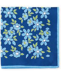 Kiton - Floral-print Silk Pocket Square - Lyst
