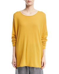 Eskandar - Slim-sleeve Raw-edge Cashmere Bateau Top - Lyst
