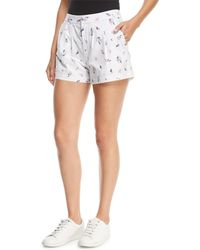 Joie - Anci Floral-print Shorts - Lyst