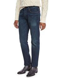 Tom Ford - Straight-fit Selvedge Harrison Wash Denim Jeans - Lyst