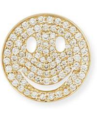 Sydney Evan - Pavé Diamond Happy Face Earrings - Lyst