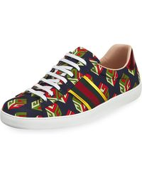 Gucci - Men's New Ace Gg Wallpaper Sneakers - Lyst