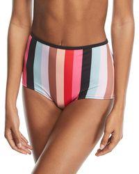 Solid & Striped - The Brigitte Malibu Stripe Swim Bikini Bottoms - Lyst