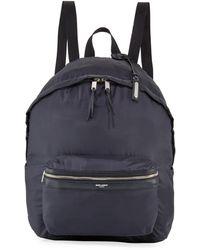 e4d154416 Saint Laurent City Backpack In Black Washed Leather in Black for Men - Save  22% - Lyst