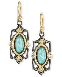 Armenta - Old World Midnight Marquis Doublet Earrings - Lyst