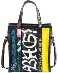 Balenciaga - Bazar Small Graffiti-print Aj Shopper Tote Bag - Lyst